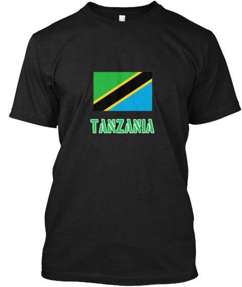 Tanzania Flag Stencil Green Design Black T-Shirt Front - This is the perfect gift for someone who loves Tanzania. Thank you for visiting my page (Related terms: I Heart Tanzania,Tanzania,Tanzanian,Tanzania Travel,I Love My Country,Tanzania Flag, Tanzania Map,Ta #Tanzania, #Tanzaniashirts...)