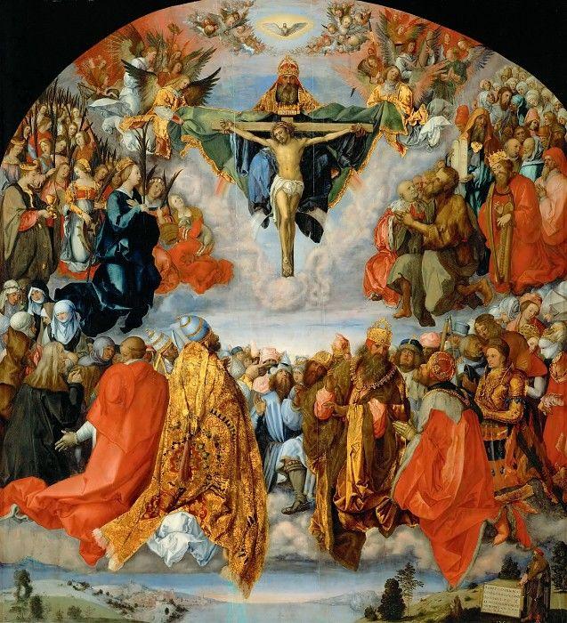 Альбрехт Дюрер - Поклонение св Троице.