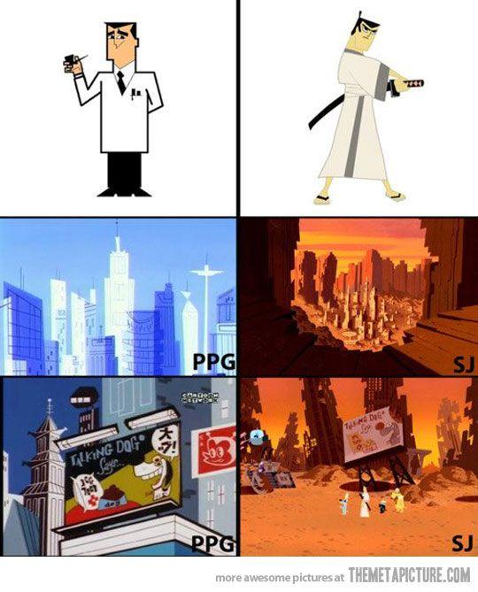 Professor Utonium and Samurai Jack are the same person