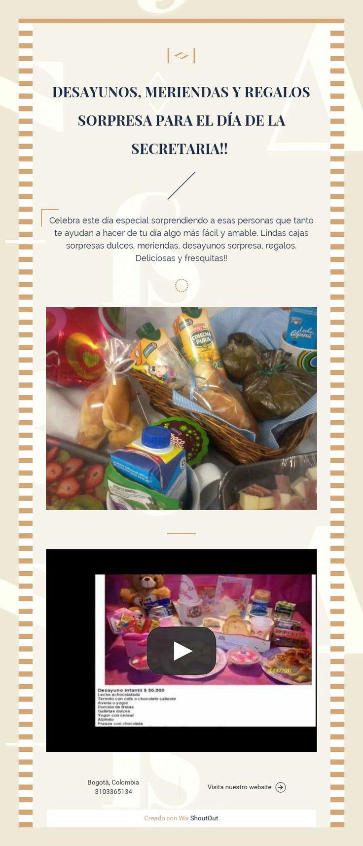 Desayunos, meriendas y regalos sorpresa para el día de la secretaria!!
