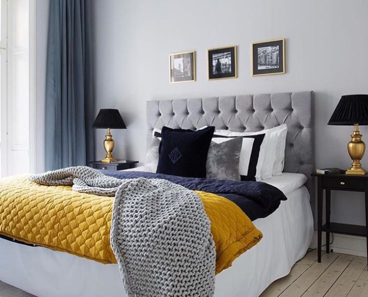 grey and yellow master bedroom curti as cores cinza amarelo e azul deco 18838