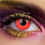 red contact lenses. UK company has hundreds of wild lenses, prescription and non-prescription.- will be ordering a blue or green pair soon.