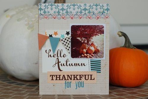 Gorgeous fall, Thanksgiving card.