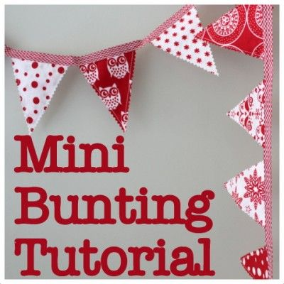 Mini Bunting Tutorial (& a giveaway) via TheCraftyMummy.com  #Christmas #sewing #tutorial #bunting