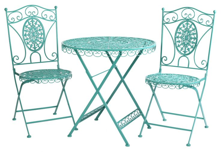 Piazza Bistro Set | Urban Barn. I missed out on the orange version last summer but this would be easy to spray paint.