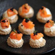 Ma recette du jour : Toast saumon fumé et carré frais sur Recettes.net