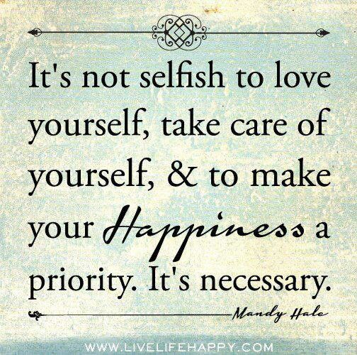 Nurturing ourselves too