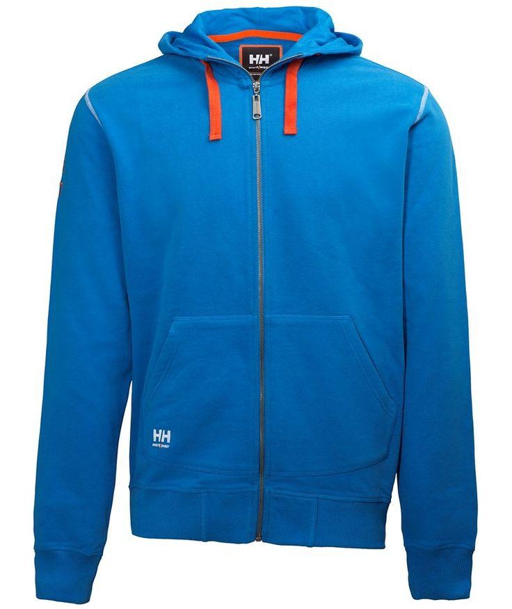 Helly Hansen Oxford Hoodie med lynlås, blå