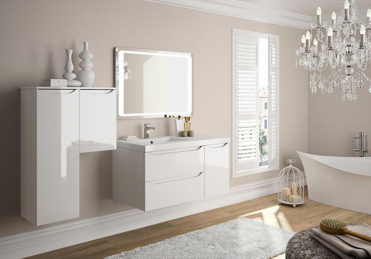 meuble de salle de bain cedam gamme feeling gamme pur e r solument moderne gr ce sa fa ade. Black Bedroom Furniture Sets. Home Design Ideas