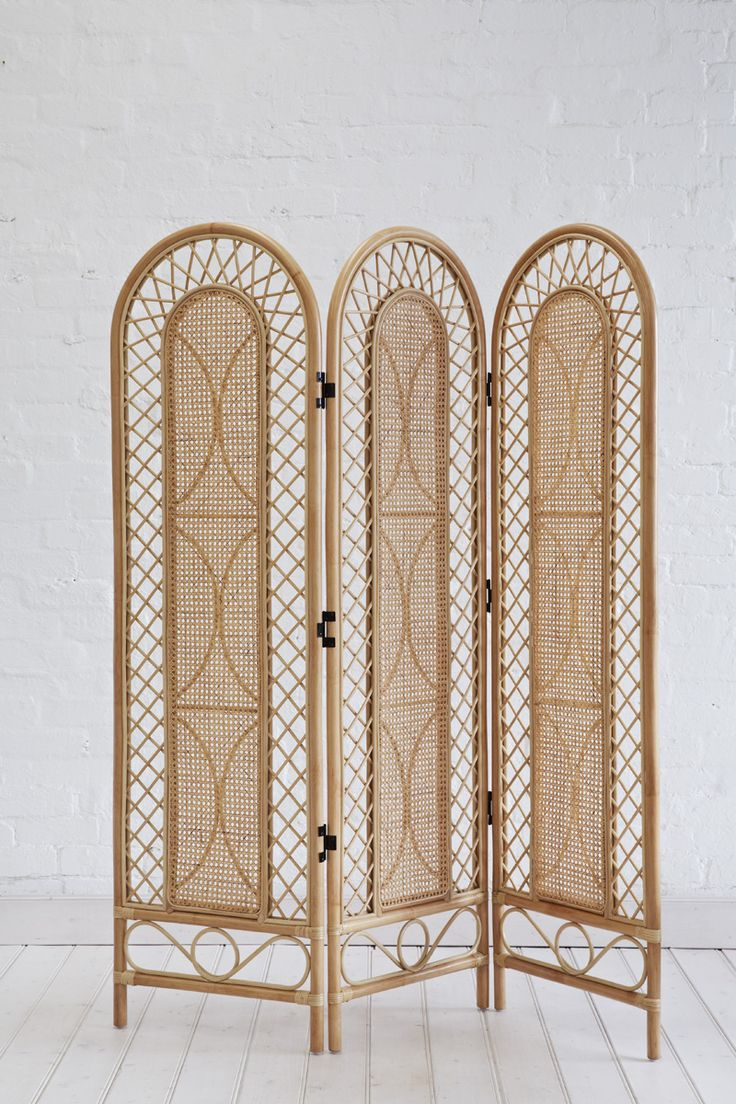 Rattan Screen Natural |The Family Love Tree. Available Oct 2014. #homedecor #rattan