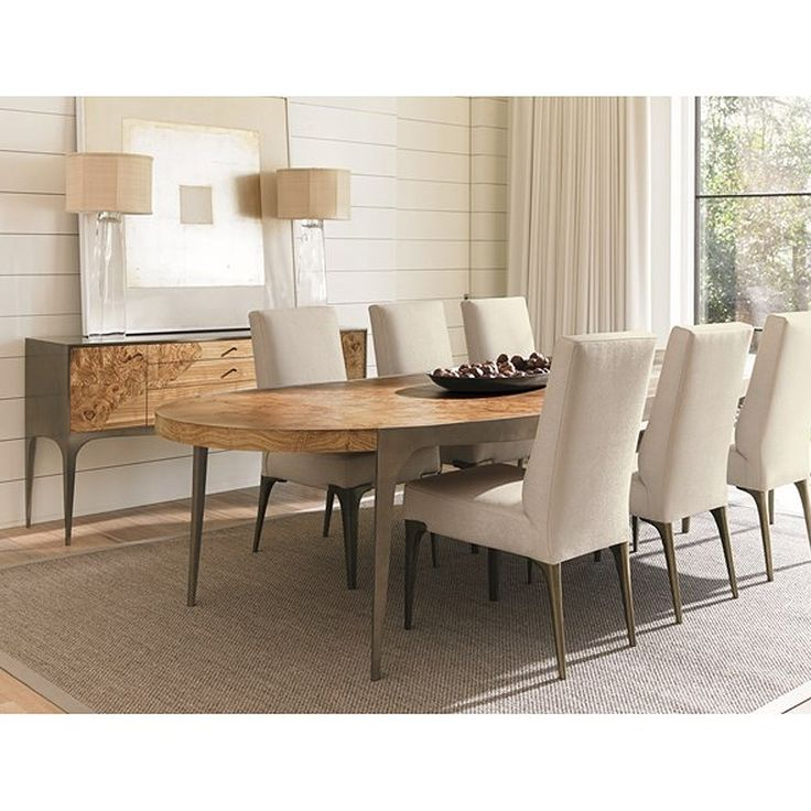 Ovaler Tisch Caracole Steel The Show Dining Table | Candelabra, Inc.