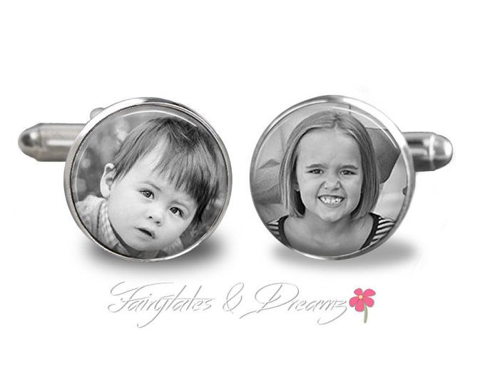 For Dad - Custom Photo Cuff Links , Memorial , Fathers Day,  Photo Cufflinks , Gifts for Him, UK