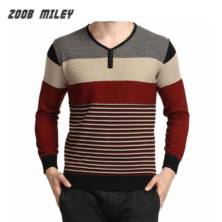 2016 Autumn Winter Mens Casual Sweaters Soft Warm Knitwear Pullover V-neck Long Sleeve Basic Shirt Male Plus Size M-XXXL