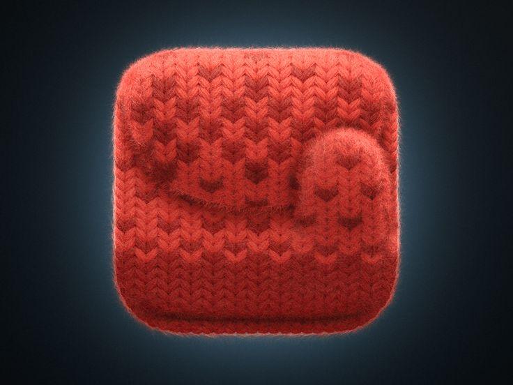 Knitted mitten iOS icon by Vyacheslav Abushkevich