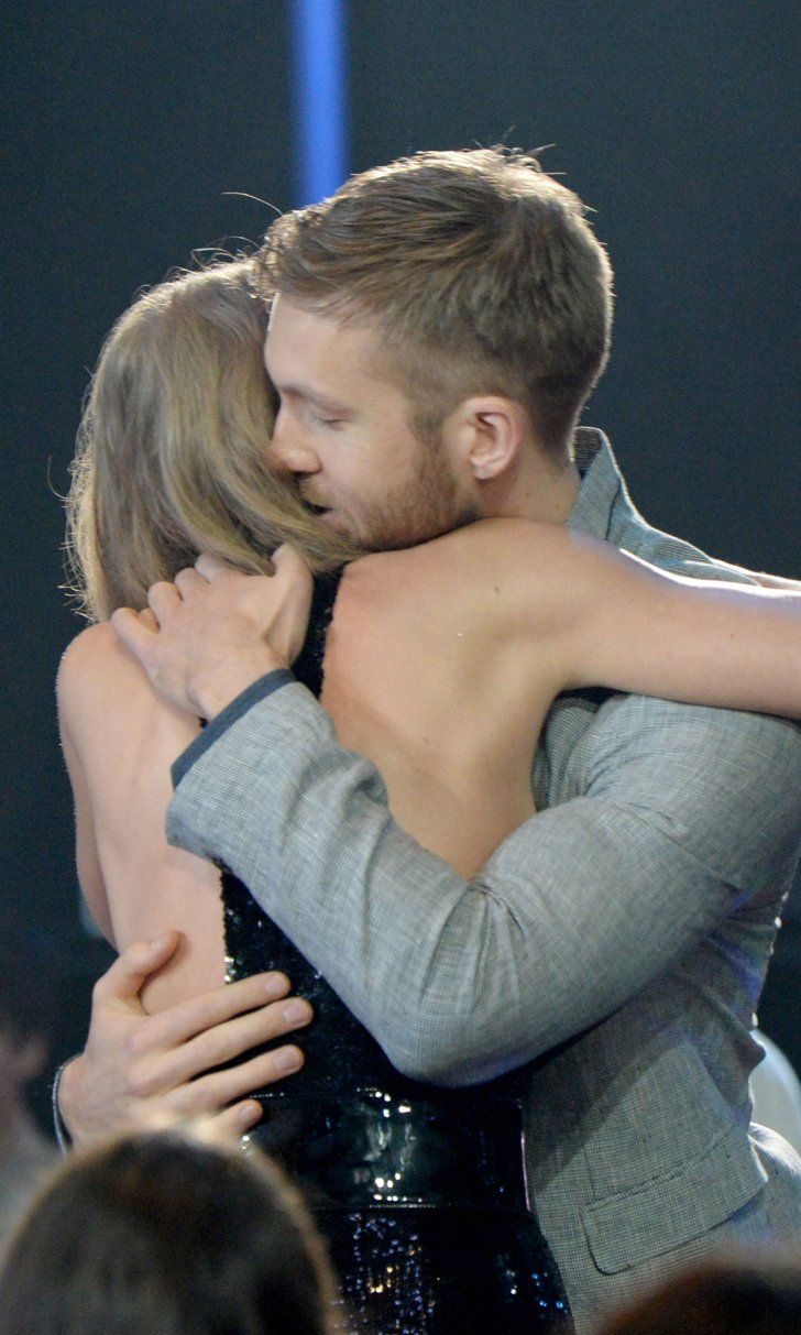 Pin for Later: Taylor Swift Could Not Stop Hugging Calvin Harris at the iHeartRadio Awards, and It Was Great