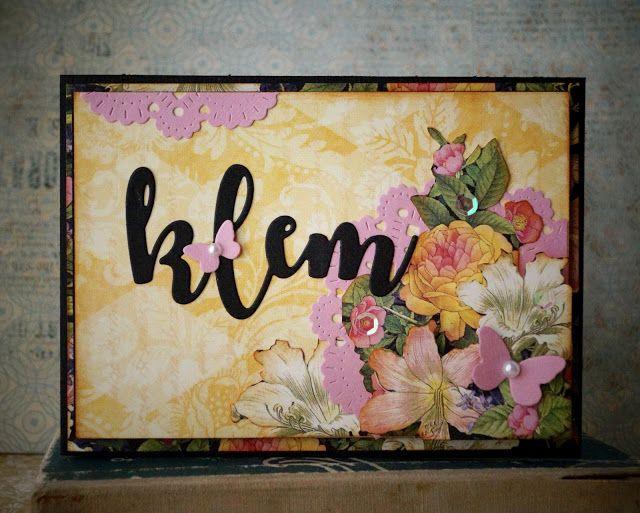 Synnøves Papirverksted: Flower card