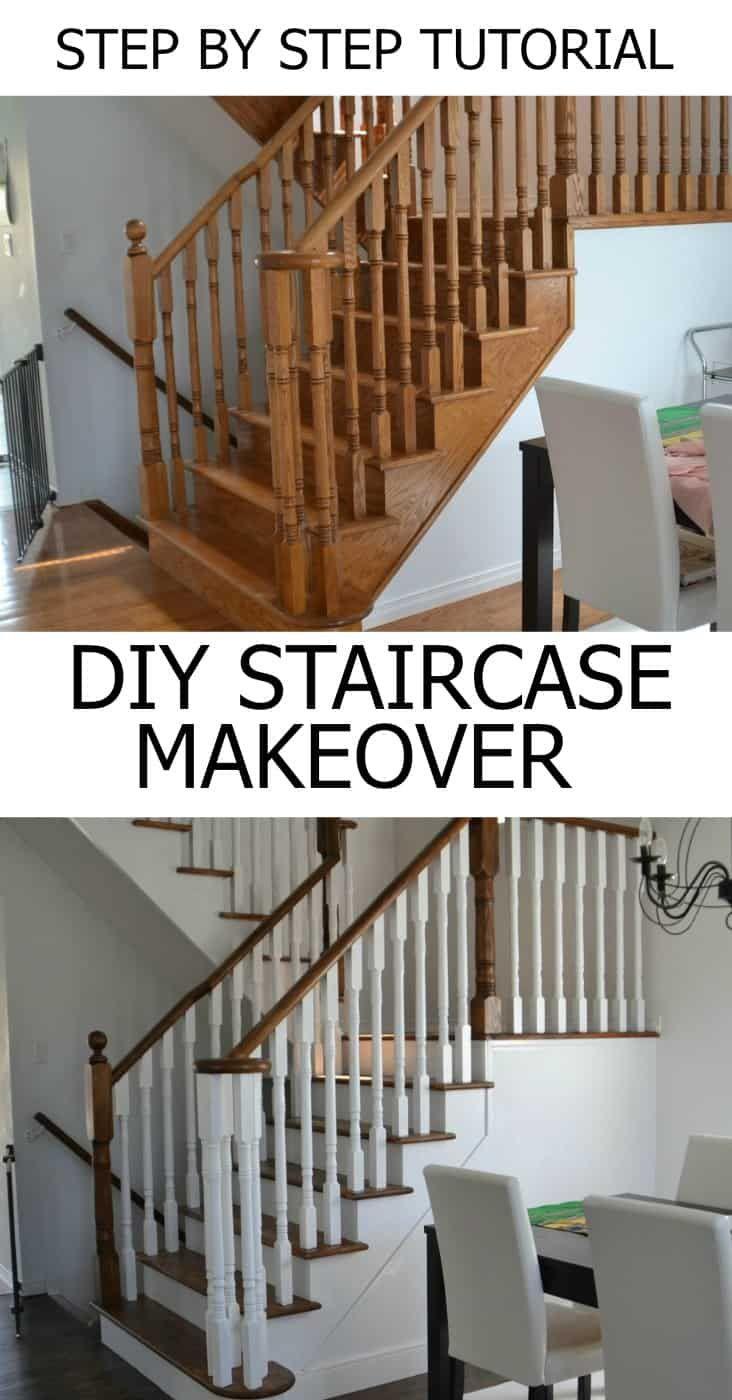 Como repousar e modernizar suas escadas do carvalho   – Painting