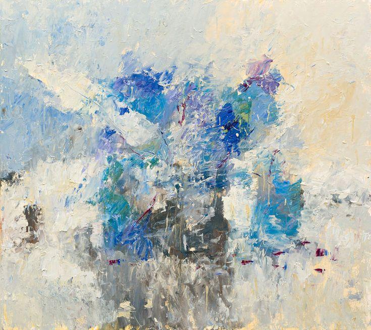 Judy Buxton: Hydrangea Blue I Campden Gallery, fine art, Chipping Campden,