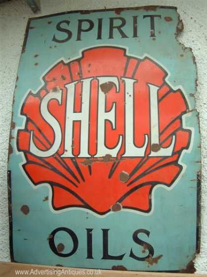 Antique Oil Company Signs   shell spirit oils sign via more tin signs
