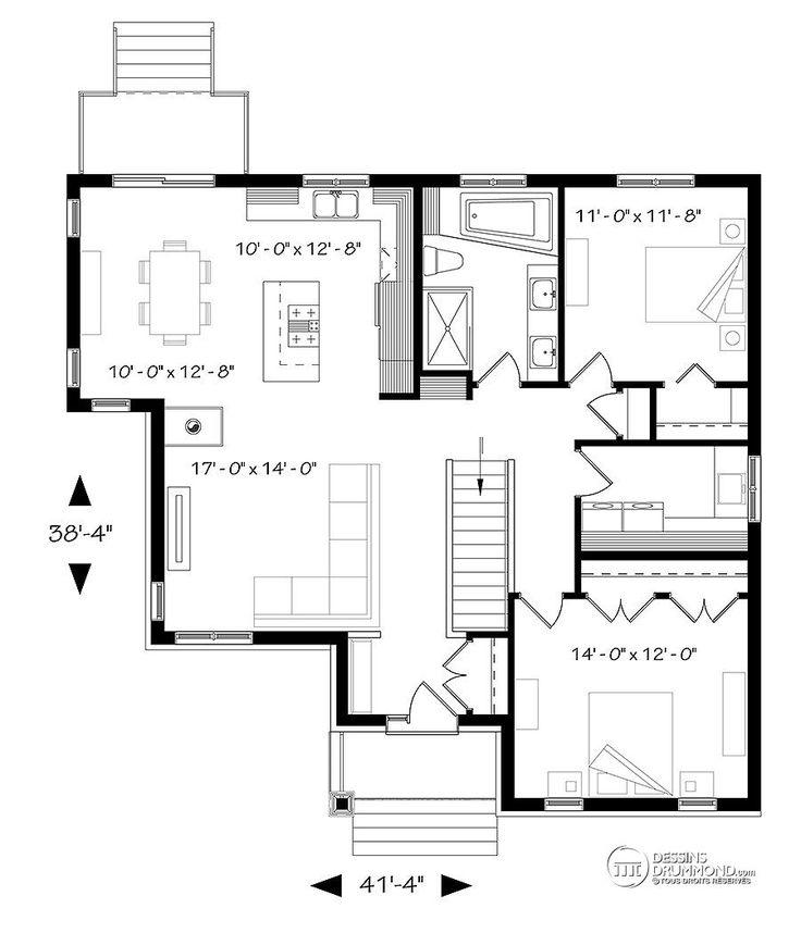 Détail du plan de Maison unifamiliale W3133-V6