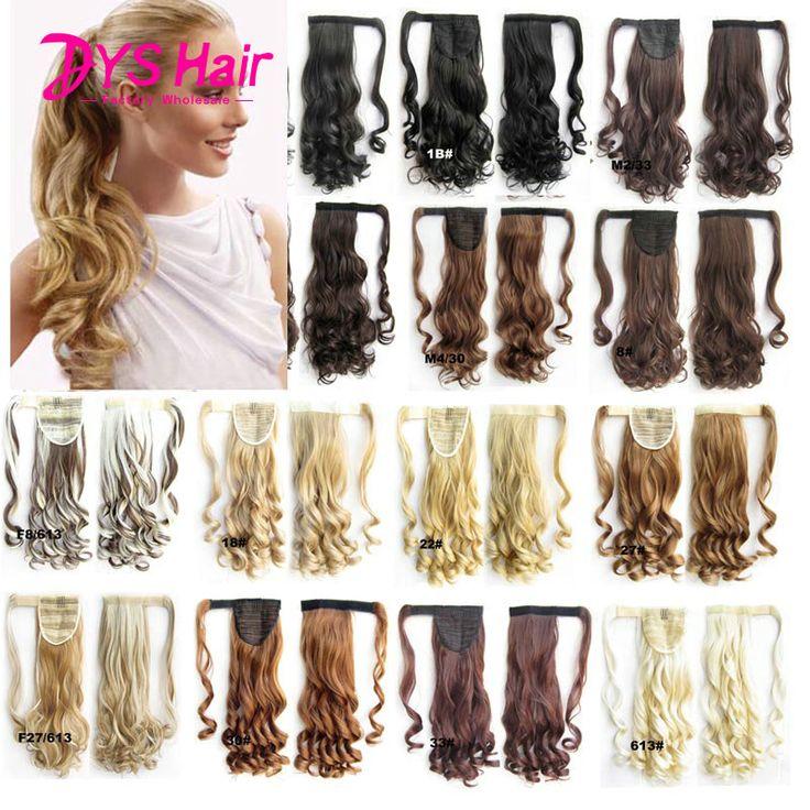 26 Cal Długie Faliste Włosy Syntetyczne Kucyk Fałszywe Włosy Ponytails Hairpiece Przedłużanie Włosów Sztuczne Włosy ponytails 120 g/sztuka Pony Ogony