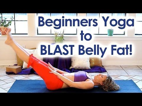 Beginners Yoga for Weight Loss | Blast Belly Fat! Core Strength Yoga & Back Pain Relief Class - YouTube