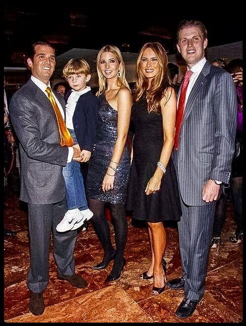 The Trumps--Donald Jr., Barron, Ivanka, Melania, and Eric