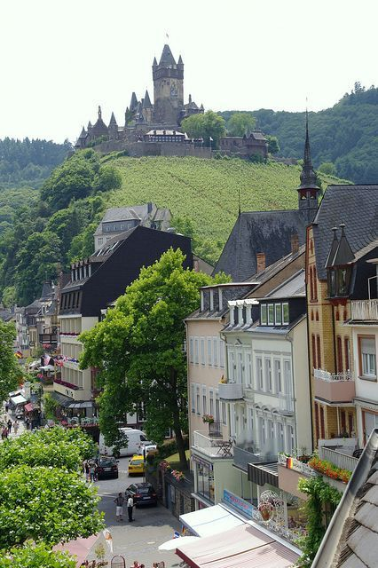 Cochem, Germany. Cochem is the seat of and the biggest place in the Cochem-Zell district in Rhineland-Palatinate, Germany. (V)