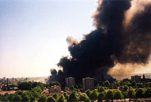 The Enschede fireworks disaster was a catastrophic fireworks explosion occurring at the SE Fireworks depot on 13 May 2000, in the eastern Dutch city of Enschede.