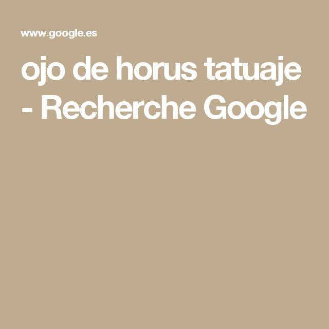 ojo de horus tatuaje - Recherche Google