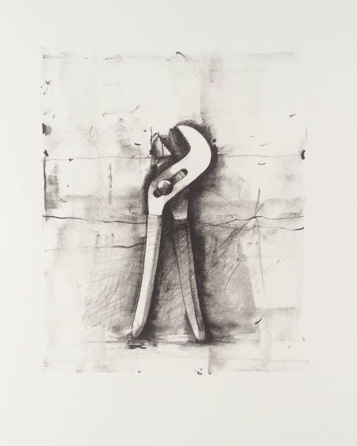 DRAWING  Jim Dine - No title (From Ten Winter Tools series), 1973, Lithograph on paper, 707x553mm