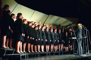 USNA Women's Glee Club performs at Westminster Christian School