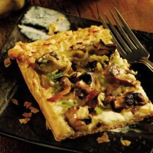 I saw this Rustic Mushroom Tart in a fancy magazine. I have to say, it was delicious, but kind of time consuming. I wouldn't try this on a weeknight, but would instead save it for a weekend or special dinner. And I might even add asparagus!