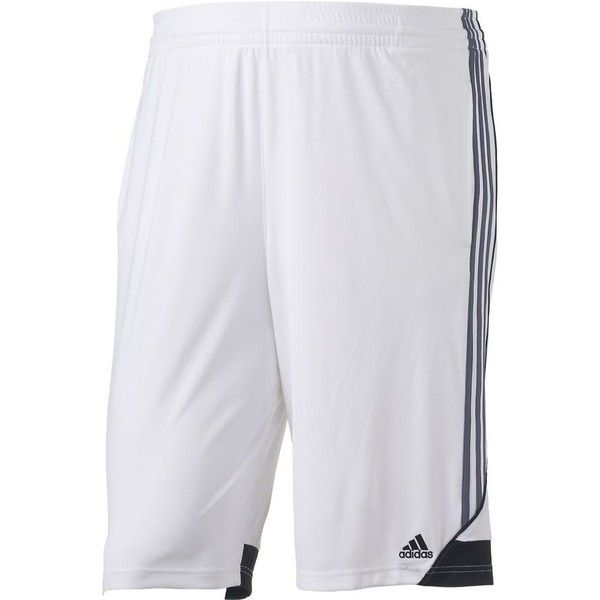 Big & Tall Adidas Climalite 3G Speed Performance Shorts ($22) ❤ liked on Polyvore featuring men's fashion, men's clothing, men's activewear, men's activewear shorts, white, mens activewear and mens activewear shorts