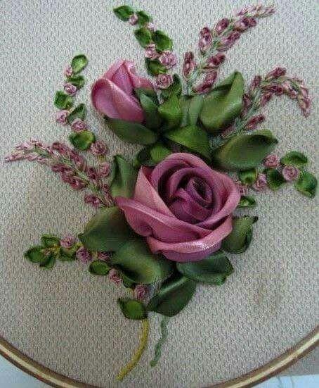 Best ribbon work images on pinterest flower