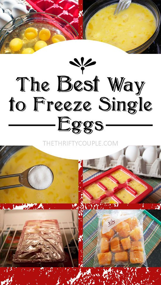 What a great idea! Freeze individual eggs with this freezing method. I've been freezing eggs for years and have been freezing them by the half dozens together in a ziploc, but there have been many times I just wanted a single egg for future use.