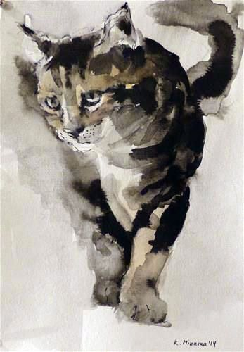 Katya Minkina -ft #CatWatercolor
