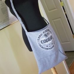 Convert an old sweatshirt into a simple, slouchy tote with this tutorial.