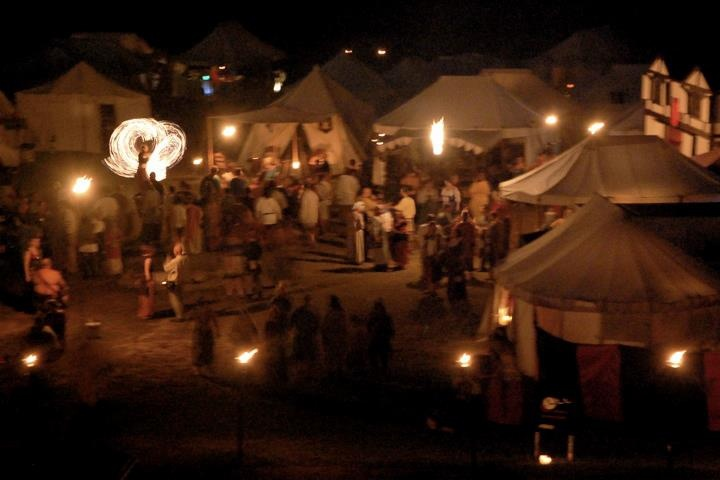 Pennsic at after dark...