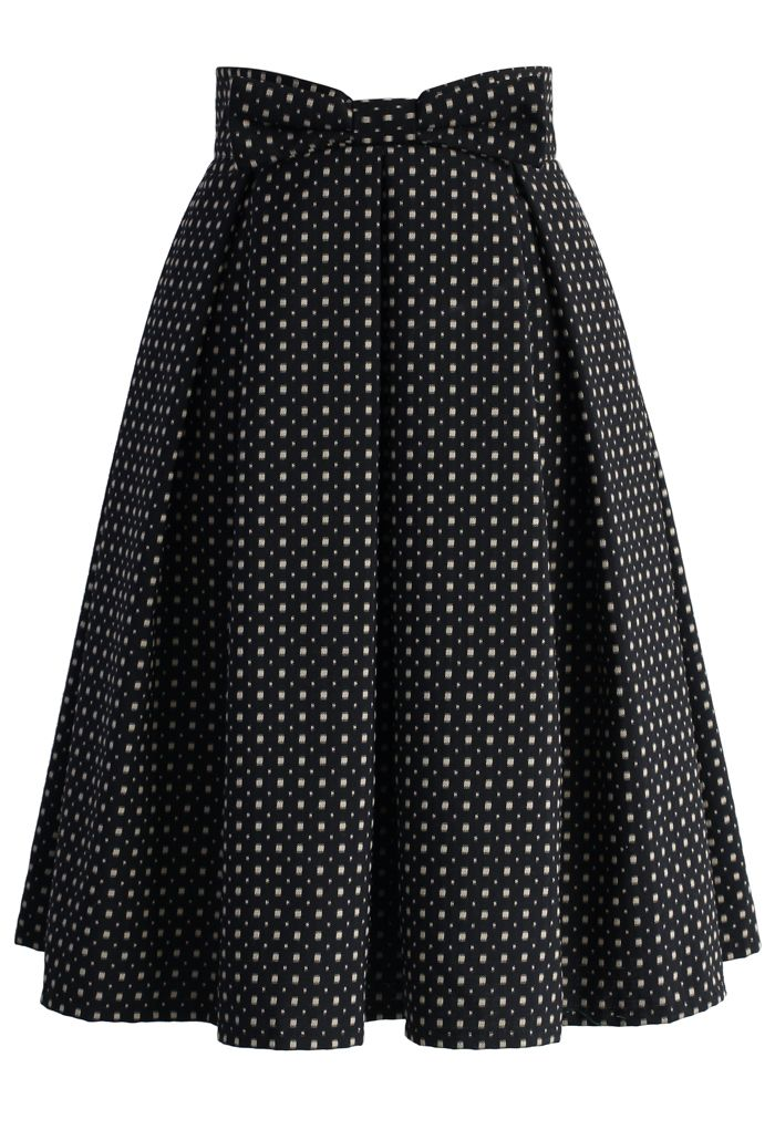 Sweet Your Heart Jacquard Midi Skirt in Polka Dots - Retro, Indie and Unique Fashion