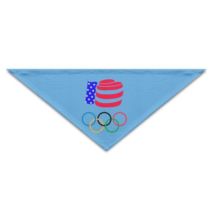 HAOXIN Rio 2016 Olympics USA Boxing Logo Pet Dog Cat Puppy Bandana Bibs Triangle Head Scarfs Accessories *** Unbelievable dog item right here! : Dog Bandanas