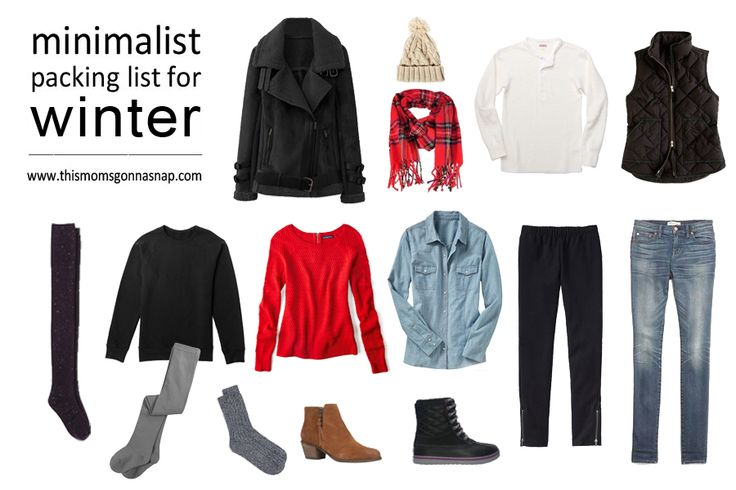 Mom Style {Minimalist Packing List for a Winter Trip}   This Mom's Gonna SNAP!