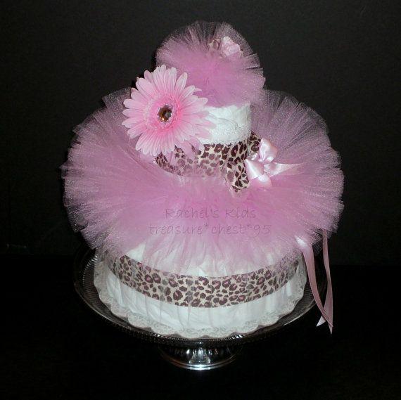 tutu diaper cake baby shower centerpiece rebecca 39 s shower