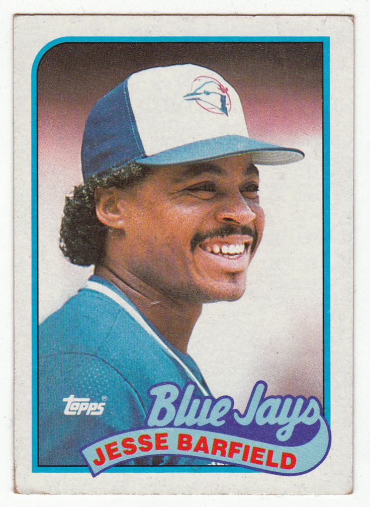 Jesse Barfield # 325 - 1989 Topps Baseball Jesse is a great man....husband, father and teacher of young athletes. He is one of my all time favorite ball players.