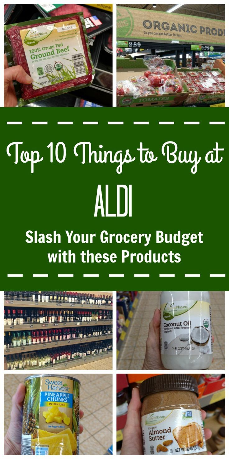 Top 10 Things to Buy at ALDI: Slash Your Grocery Budget with these Products--The top 10 things to buy at ALDI to save you money without sacrificing quality. #ALDIgram @ALDIUSA #TasteofALDI #ad