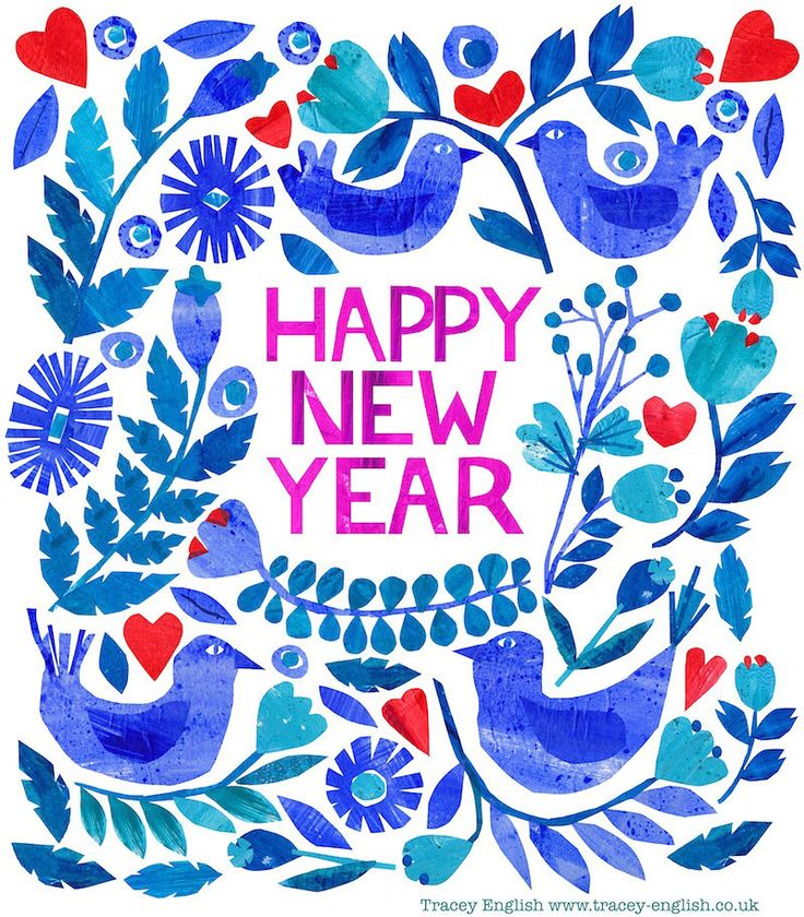 Happy New Year 2016 by Tracey English  www.tracey-English.co.uk