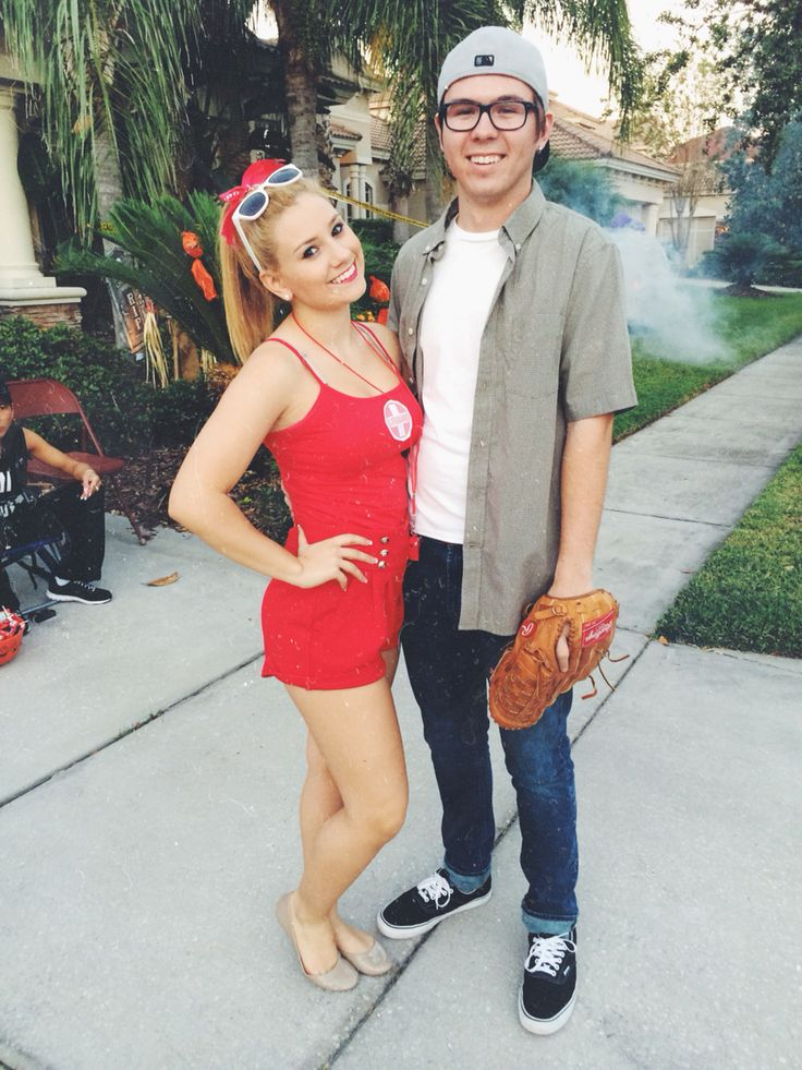 squints and wendy peffercorn from the sandlot. couple costumes for Halloween