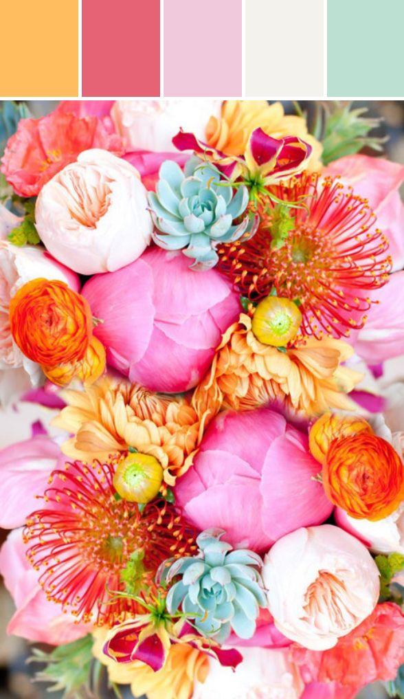 Spring Wedding Colors 2014 | Mint + Summer Squash + Pink Designed By Lisa Perrone | Stylyze Creative Director via Stylyze