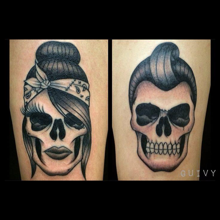 Rock N Roll Couple Tattoo Guivy Switzerland Chicano