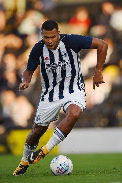 Salomon Rondon of West Bromwich Albion in action during the pre season friendly match between Burton Albion and West Bromwich Albion at Pirelli Stadium on July 26, 2017 in Burton-upon-Trent, England.